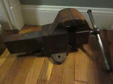 "RARE Vtg PRENTISS BULLDOG Blacksmith Machinist Vise Clamp Tool 5""jaw 10""cap 66lb"