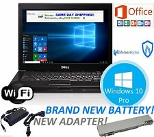 DELL LAPTOP LATITUDE WINDOWS 10 CORE 2 DUO OFFICE 2013 DVDRW WIFI COMPUTER HD PC