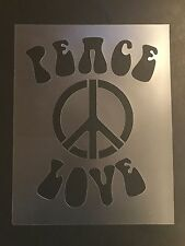 Peace Sign Stencil 7mil Peace, Love, Hippie, Free Shipping, Airbrushing!