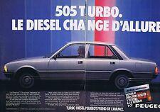Publicité Advertising 016 1980 Peugeot 505 turbo dièsel  (2 pages)