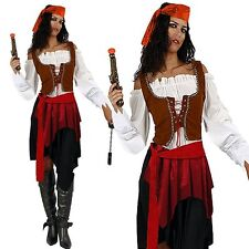 Pirates of the Caribbean Jack Sparrow Womens Ladies Fancy Dress Up Party Costume
