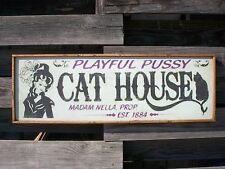"PERSONALIZED BROTHEL WHORE HOUSE BORDELLO OLD WEST SALOON BAR WOOD SIGN 37""x13"""