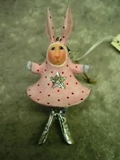 PATIENCE BREWSTER KRINKLES PANDORA BUNNY CHRISTMAS MINI ORNAMENT