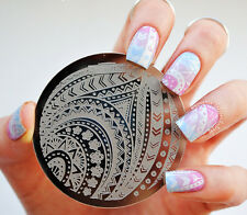 Nail Art Stamping Plate Image Stamp Template Arrows Stripe Pattern #Qgirl-029