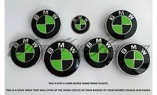 BLACK &GREEN CARBON BMW Badge Emblem Overlay HOOD TRUNK RIMS FITS ALL BMW MSPORT
