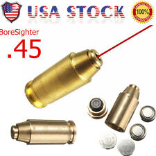 .45 ACP Red Dot Laser Bore Brass Boresighter Sighter Boresight Cartridge US