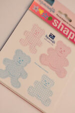 24 Baby Boy & Baby Girl Teddy Bear Card Toppers - CARD MAKING SCRAPBOOK