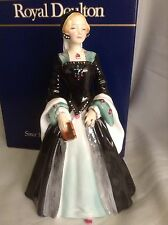 Boxed RARE VINTAGE ROYAL DOULTON FIGURINE JANICE HN 2165 (lady Jane Grey)