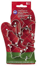 Christmas Oven Mitt Mini 6-Piece Cookie Cutter Set from Wilton 5076 - NEW