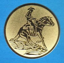 12 Embleme D:50mm Reiten Pferde ( Western Pokale Pokal Emblem Turnier Quarterh.)