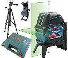 BOSCH GCL 2-15 G Baulaser  Linienlaser mit Stativ BT150 Koffer Deckenklemme grün