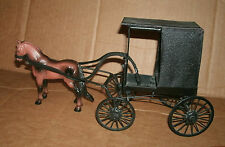 1/20 Scale Amish Buggy Model - Hand Made Horse Drawn Carriage - Ohio Amish Wagon