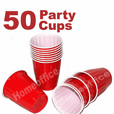 50 x American 16oz Red House Party / Function Disposable Strong Plastic Cups
