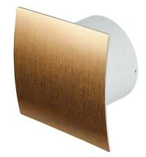 "Bathroom Extractor Fan 100mm /4"" Modern Shower Kitchen Gold Brush Finish  EZ-100"