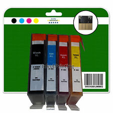 1 Set + 2 Black Chipped non-OEM Inks for HP B110a B110c B110d B110e 364x4 XL