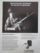 9/1982 PUB LITTON ELECTRON TUBE 2 PLUS NIGHT VISION COLT M16 US ARMY GERMAN AD