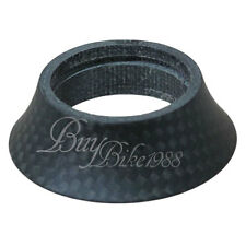 20g New 3k Full Carbon Conical Tapered Spacer BLACK Mat Black ROAD