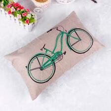 Linen Cotton Throw Pillow Case Rectangle Cushion Cover Home Sofa Waist Decor US