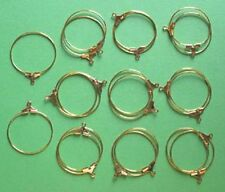 20 GP hoops, 25mm, for earrings, findings for jewellery, wine glass charms etc