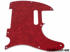 *NEW Red Pearloid Telecaster PICKGUARD for Fender USA Standard Tele 3 Ply 8 Hole