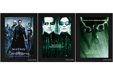 THE MATRIX TRIPLE PACK Framed Film Movie Posters A4 Black Frame FREE UK Post