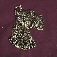 SCHNAUZER PENDANT ..... Traditional Detailed Pewter ~ Top Quality ~ Dog Lover