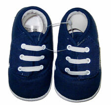 Newborn Baby Boy Non Slip Shoes Size 3 ( 6-9 Months ) Velcro Navy New In a Box