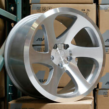 17x9 AVID1 AV50 5x100 30 Silver Machined Wheel New set(4)