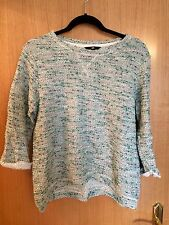 H&M Green Grey Flecked Jumper Sweater Top Size S Small Loose Fit