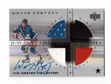 2000 UD The Master Collection- Great Wayne Gretzky Signed Auto 4clr Jersey 9/9!!