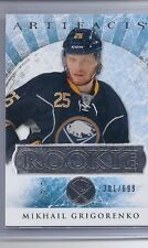 12-13 2012-13 ARTIFACTS MIKHAIL GRIGORENKO ROOKIE RC /699 RED201 SABRES