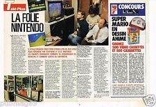 Coupure de presse Clipping 1991 (1 page 1/2) Jeu Video la folie Nintendo