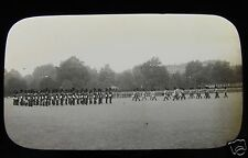 Glass Magic Lantern Slide TROOPING THE COLOURS HORSE GUARDS  C1900 BRITISH ARMY