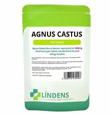 AGNUS CASTUS 1000mg; 100 Tablets, (Vitex/Chasteberry); Lindens Apothecary