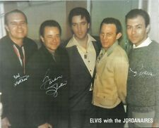 """ELVIS PRESLEY AND THE JORDANAIRES  SIGNED REAL 10""""X 8""""  PHOTO AUTOGRAPHED"""