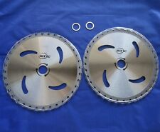 """2 pk CARBIDE Tip 9"""" Brush Cutter Trimmer Blades 36 T w/ 1"""" or 20mm Bore Washer"""