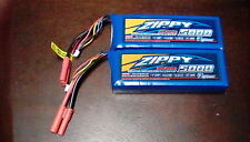 2 Zippy 5000mAh 3S 11.1V  20C 30C Lipo Battery traxxas revo slash venom TURNIGY