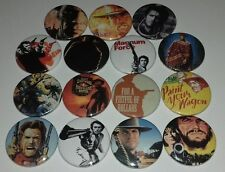 15 Clint Eastwood badges Sergio Leone For a Fistful of Dollars Dirty Harry