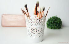 Make Up Brush Holder Pot White/Candle Holder FREE POSTAGE & PACKING