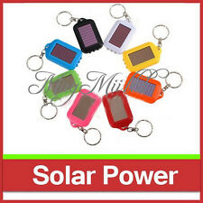 3 LED Mini Solar Power Rechargeable Flashlight Keychain Light Lamp Torch CAEM