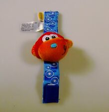 Infantino Monkey Wrist Ankle Rattle 2006 Crinkle Sound Vibrant Colors Baby Toy