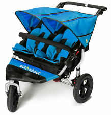 Brand new in box Out n About nipper 360 double pushchair v4 in lagoon blue & pvc