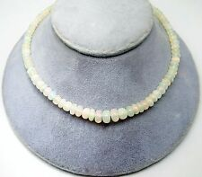 51ct Genuine Natural Opal Bead Necklace with 14k Gold Clasp (#3343)