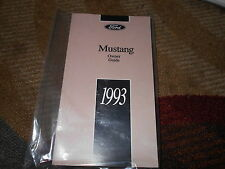 1993 FORD MUSTANG AND COBRA GT LX NEW CORRECT FACTORY OWNERS OPERATORS MANUAL