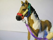 Handmade rainbow headcollar and lead rope set to fit Schleich horses