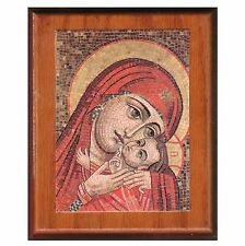 "Picture on wood, Mary & baby Jesus 7""x6"" B3"