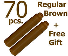 70 Fountain Pen Ink Cartridge Refills BROWN + GIFT