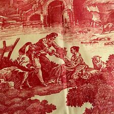 Custom Country French Red Toile Curtains Waverly Country Life Mint