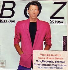 """7""""JAPAN WHITE PROMO BOZ SCAGGS MISS SUN MINT UNPLAYED PRODUCED BY DAVID PAICH"""