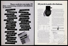 1974 HP-65 calculator and program cards photo Hewlett-Packard vintage print ad